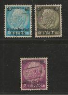 """DEUTSCHE POST """"OSTEN"""", 1939, Cancelled Stamp(s) Hindenburg MI 1=13 #16005, 3 Values Only - Occupation 1938-45"""