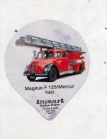 opercule  de creme camion pompier