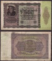 Weimarer Republik , Infla 50.000 Mark , 1922 , RB-78 , VG - [ 3] 1918-1933 : Weimar Republic