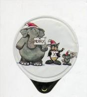 opercule  de creme elephant chat