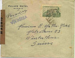 Lettre De Madrid Avec Censure - 1931-Oggi: 2. Rep. - ... Juan Carlos I
