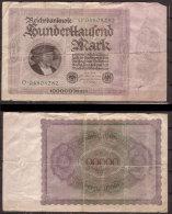 Weimarer Republik , Infla , 100.000 Mark , 1923 , RB-82 A , VG - [ 3] 1918-1933 : Weimar Republic