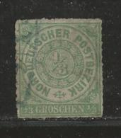 NORDDEUTSCHER POSTBEZIRK, 1866 Cancelled Stamp(s) First Issue, 1/3 Groschen  , MI 2 # 16040 - Occupation 1938-45