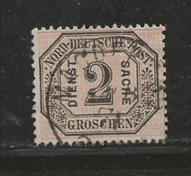NORDDEUTSCHER POSTBEZIRK, 1870 Cancelled Stamp(s) Dienstmarke D5, # 16034 , 1 Values Only - Norddeutscher Postbezirk
