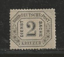 NORDDEUTSCHER POSTBEZIRK, 1870 Uncancelled Stamp(s) Dienstmarke 2 Kreuzer, D7, # 16037 , 1 Values Only - North German Conf.