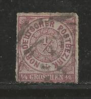 NORDDEUTSCHER POSTBEZIRK, 1866 Cancelled Stamp(s) First Issue, 1/4 Groschen  , Mi 1 # 16039 , - North German Conf.