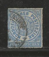 NORDDEUTSCHER POSTBEZIRK, 1866 Cancelled Stamp(s) First Issue, 2 Groschen  , MI 5 # 16043 - North German Conf.