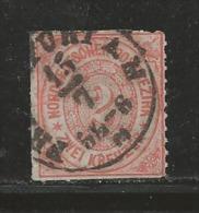 NORDDEUTSCHER POSTBEZIRK, 1868 Cancelled Stamp(s) First Issue, 2 Kreuzer  , MI 8 # 16047, - North German Conf.