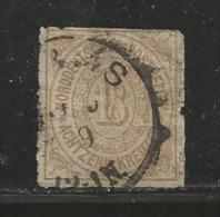 NORDDEUTSCHER POSTBEZIRK, 1868, Cancelled Stamp(s) First Issue, 18 Kreuzer  , MI 11 # 16050, - North German Conf.