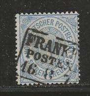 NORDDEUTSCHER POSTBEZIRK, 1869, Cancelled Stamp(s), 7 Kreuzer  Perforated, MI 22 # 16051, - North German Conf.