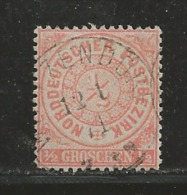 NORDDEUTSCHER POSTBEZIRK, 1869, Cancelled Stamp(s), 1/2 Groschen, MI 15 # 16055, - Norddeutscher Postbezirk