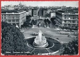 CARTOLINA VG ITALIA - MILANO - Panorama Dal Castello - 10 X 15 - ANNULLO MILANO FERROVIA 1955 - Milano