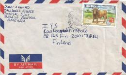 Belize 1997 Corozal Town Charbray Cow Vache Hong Kong Philatelic Exhebition Cover - Belize (1973-...)