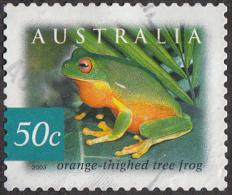 Timbre D´ Australie 2003    ´ ´   Yvert 2131a   ´ ´   50 C. Grenouille Arboricole ( Litoria Xanthomera )