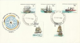 Australian Antarctic Territory 1980 Ships Series II FDC - Unclassified
