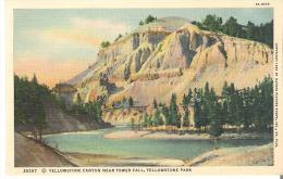 35297 Yellowstone Canyon near Tower Fall, Yellowstone Park, Wyoming