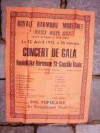 ROYALE HARMONIE MORESNET salle Scharis  ( Plombi�res )1975 Concert par Hamonie St Caecilia VAALS