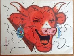 Puzzle - Impression Sur Papier - La Vache Qui Rit - 12x16 Cm à Contre Coller Et à Découper - Chavane Publicité - Rare - Unclassified