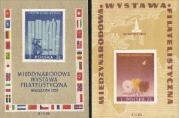 Poland,  Scott 2014 # B104-105,  Issued 1955,   2 S/S Of 1,  MNH,  Cat $ 21.75,  Philatelic - Ongebruikt