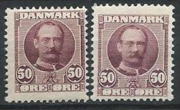 Danemark 1907 N° 60  Neuf* MLH  2 Variétés De Couleur, Frédérik VIII