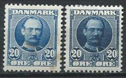 Danemark 1907 N° 57 Et 57a  Neufs* MH Frédérik VIII
