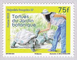 French Polynesia 2012 Galápagos Tortoises In The Botanical Garden Of Tahiti MNH ** - Turtles