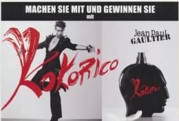 Carte J.Paul Gaultier - Kokorico - Version Suisse -    - Perfume Card - Cartes Parfumées