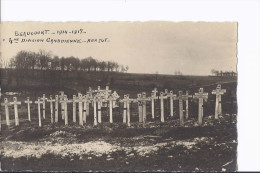 1 Carte-photo. Beaucourt. Guerre 1914-1918. 4e Division Canadienne. Tombes - France