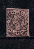 SACHSEN, 1851, Cancelled Stamp(s) 1 Neu Groschen, Friedrich August II, MI 4 # 16074, - Saxony