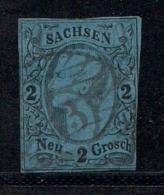 SACHSEN, 1855, Cancelled Stamp(s) 2 Neu Groschen, Johann I, MI 10 # 16077, - Saxony