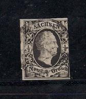 SACHSEN, 1851, Cancelled Stamp(s) 1/2 Neu Groschen, Friedrich August II, MI 3 # 16073, - Saxony