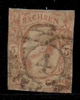 SACHSEN, 1856, Cancelled Stamp(s) 5 Groschen, MI 12 # 16083, - Saxony