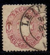 SACHSEN, 1863, Cancelled Stamp(s) 1 Groschen, Coat Of Arms, MI 16 # 16084, - Saxony