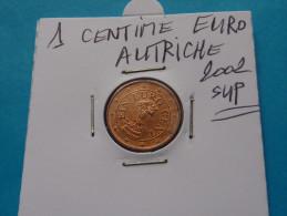 1  CENTIME  EURO  AUTRICHE  2002 Sup  ( Sous étui H B ) - Autriche