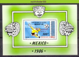Mut236 SPORT WK VOETBAL * OVERPRINT * SOCCER WORLD CHAMPIONSHIP FOOTBALL FUSSBALL WELTMEISTERSCHAFT MALI 1986 PF/MNH # - Fußball-Weltmeisterschaft