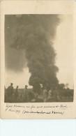 Guerre 1914 -18  Dépot D'essence En Feu Aux Environs De Brod  Bombardement D'avion - Bosnie-Herzegovine