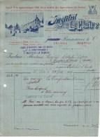 SUISSE - LE LOCLE - DOUBS - MORTEAU - INSTITUT LA CLAIRE - LEVURE PURES DE VIN - JAMES BURMANNE - 1904 - Switzerland