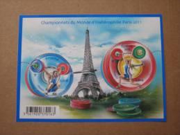 2011   F4598 **  NO YV 4598/4599  BLOC  HALTEROPHILIE    SOUS LA FACIALE . - Neufs
