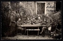 == INEDITE ==  SAINT MIHIEL - LES OBSERVATEURS ALLEMANDS FONT UNE PARTIE DE CARTES EN 1918 - Saint Mihiel