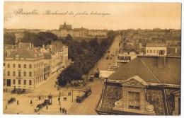 Bruxelles Boulevard Du Jardin Botanique Tram Tramway Animée 1928 Bon état - Avenues, Boulevards