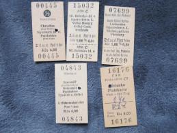 Lot 5 Fahrkarten CSSR Tschechoslowakei  //  D*13481