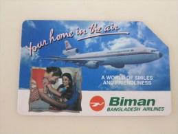 Urmet Phonecard,Biman Bangladesh Airlines,used