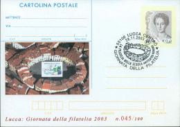 LUCCA - GIORNATA DELLA FILATELIA NELLA SCUOLA - CARTOLINA - INTERO POSTALE CON SOPRASTAMPA PRIVATA - Briefmarken (Abbildungen)