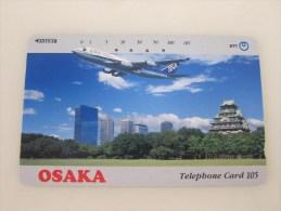 Japan Tamura Phonecard,ANA Osaka,used - Avions