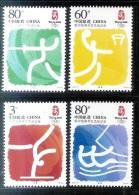 China 2006-19 2008 Summer Olympics Games Beijing Stamps Sport Fencing Basketball Gymnastics Sailboat - Summer 2008: Beijing
