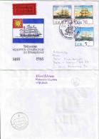 """E692 Briefhülle """"Schiffer-Compagnie Stralsund"""" """"Berlin"""" 1988 Eilsendung - [6] République Démocratique"""