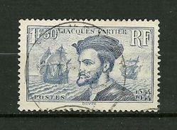 FRANCE 1934 N°297     4ème Centenaire De L'Arrivée De J.Cartier Au Canada     Oblitéré - Used Stamps