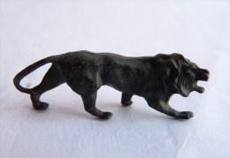 Rare FIGURINE KINDER  METAL ANIMAUX 1 70's - U-EI Tiere LION Löve - Figurines En Métal