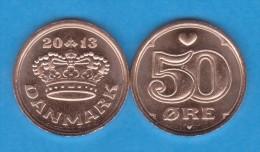 DENMARK / DANMARK / DINAMARCA  50 ORE 2.013 BRONCE KM#866.3  SC/UNC  T-DL-11.035 - Denmark
