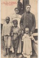CPA GABON Un Médaillé De L'Expédition MARCHAND Et Sa Famille Texte De Loango 1910 - Gabon